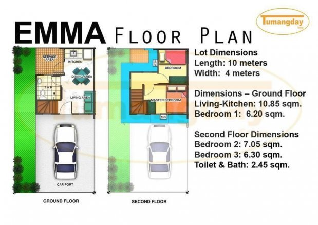 Affordable Townhouse Near Manila Emma Unit Lancasternewcity Townhouse For Sale In Cavite Dot Property