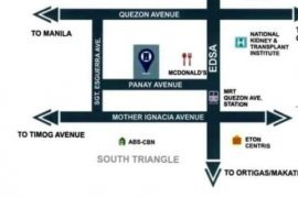 1 Bedroom Condo for sale in South Triangle, Metro Manila