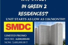 Condo for sale in Green 2 Residences, Dasmariñas, Cavite