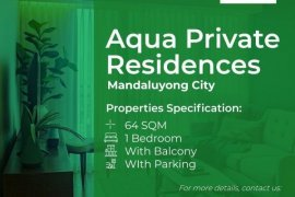 1 Bedroom Condo for rent in Acqua Private Residences, Mandaluyong, Metro Manila