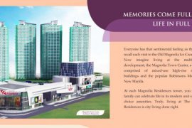 1 Bedroom Apartment for sale in The Magnolia residences – Tower D, Quezon City, Metro Manila near LRT-2 Gilmore