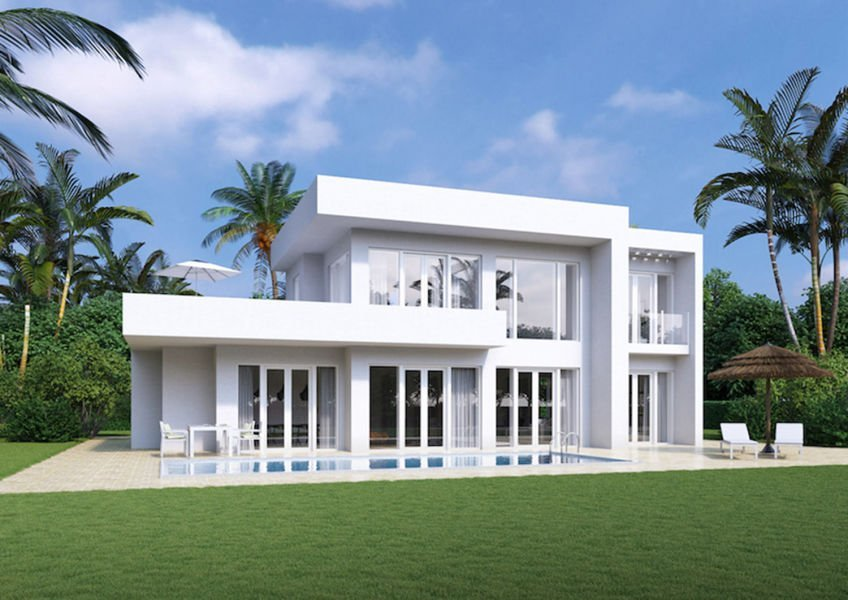 excellent villa with pool and sea views at a low price