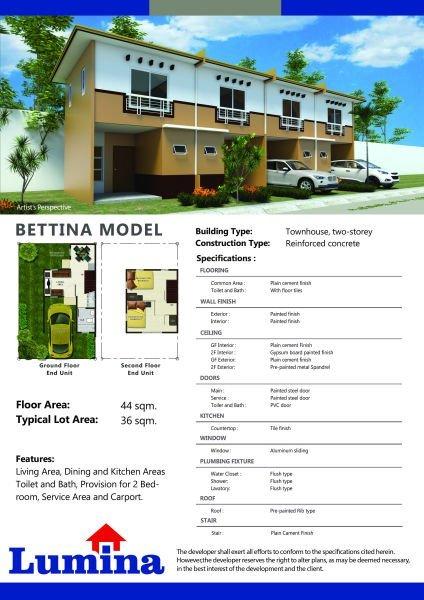 bettina house model unit for sale