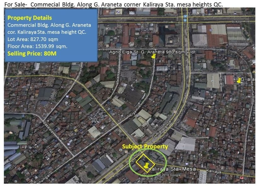 commercial building for sale in g araneta sta mesa heights q