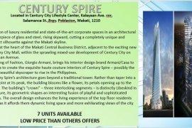 1 Bedroom Condo for sale in Century Spire, Poblacion, Metro Manila