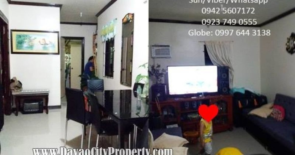 bed house for sale in catalunan peque o davao city 300 000