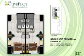 Condo for sale in The Olive Place near MRT-3 Boni