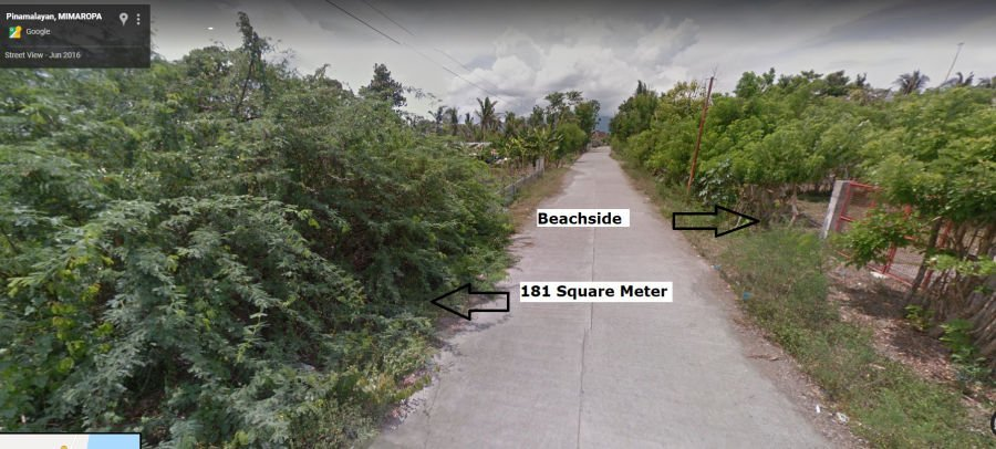 rush near the beach lot 181 sq. meter adjacent to the road