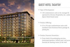 1 Bedroom Condo for sale in Silang Junction South, Cavite