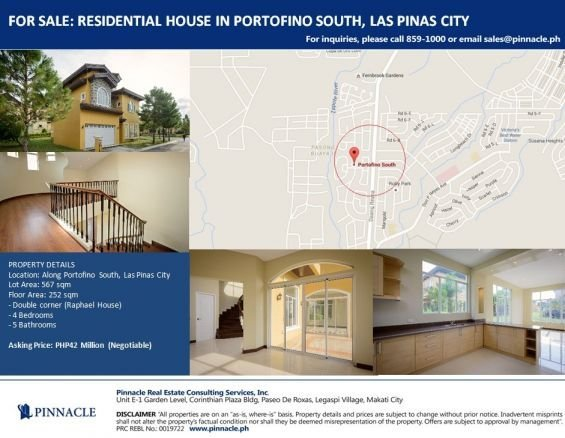 residential house and lot in las pinas city for sale