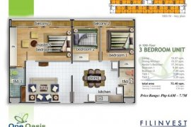 3 bedroom condo for sale in One Oasis Cebu