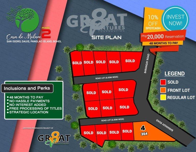 subdivided lot for sale -dauis, panglao island, bohol