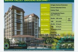1 Bedroom Condo for sale in Cainta, Rizal