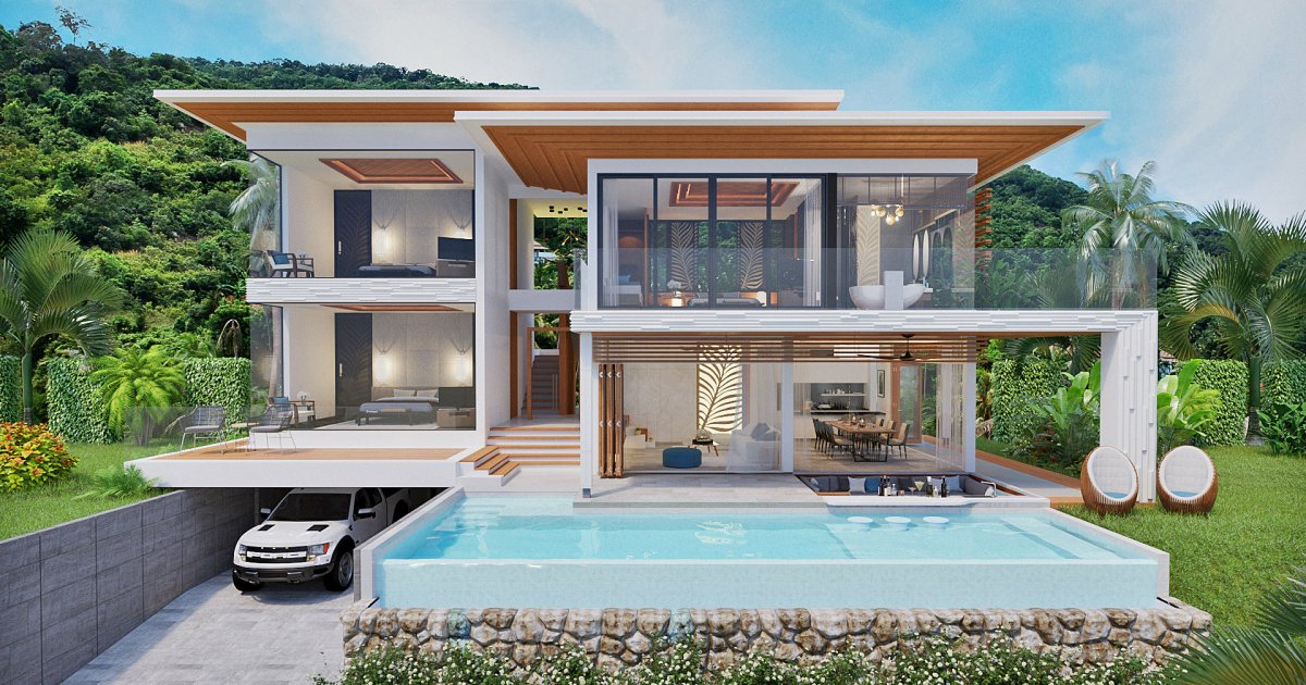 Darika residence surat thani dot property for Thailand houses pictures