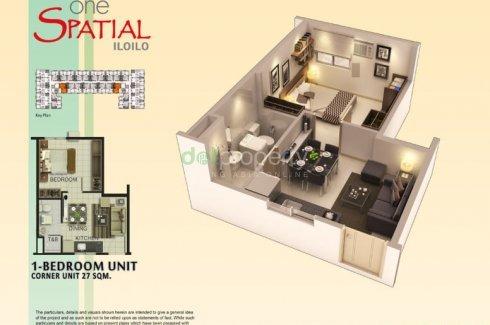 1 Bedroom Condo for sale in One Spatial Iloilo, Iloilo City, Iloilo