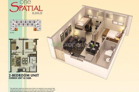 2 Bedroom Condo for sale in One Spatial Iloilo, Iloilo City, Iloilo