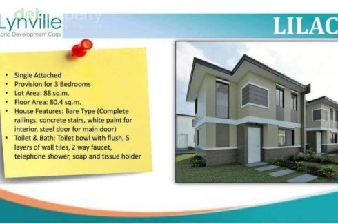 Provision For 3br Single Attached In Lynville Malvar Lilac House For Sale In Batangas Dot