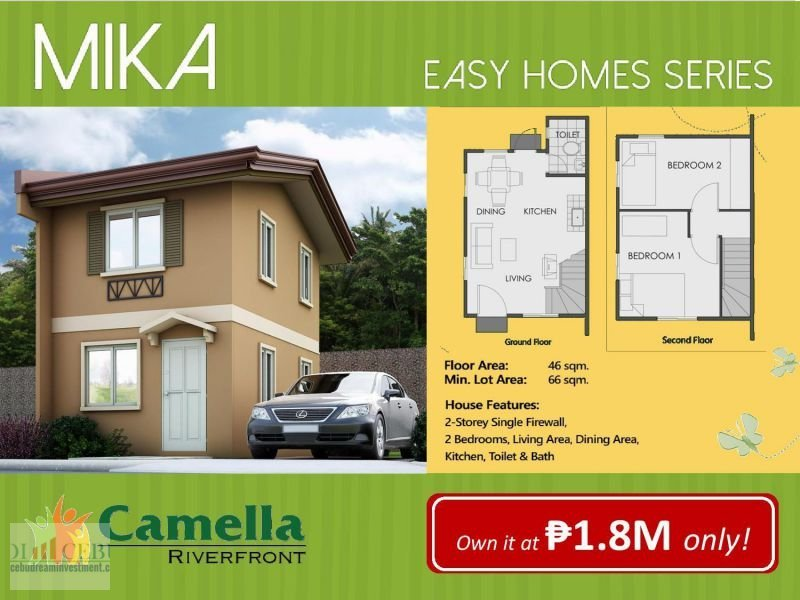 2 Bedroom House And Lot For Sale Camella Homes Rivarfronf. 📌 House For  Sale In Cebu | Dot Property