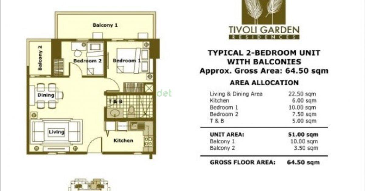 2 Bed Condo For Sale In Tivoli Gardens Residences Mandaluyong Metro Manila 4 800 000