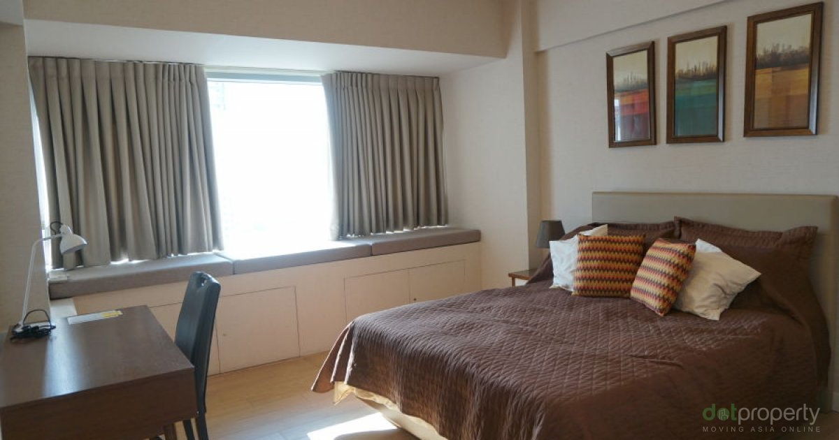 Interior designed one bedroom at shangri la place condo for One room cabins for sale
