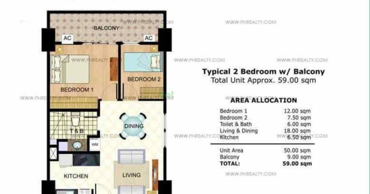 2 Bed Condo For Sale In Tivoli Garden Residences Mandaluyong Metro Manila 4 300 000 2620145