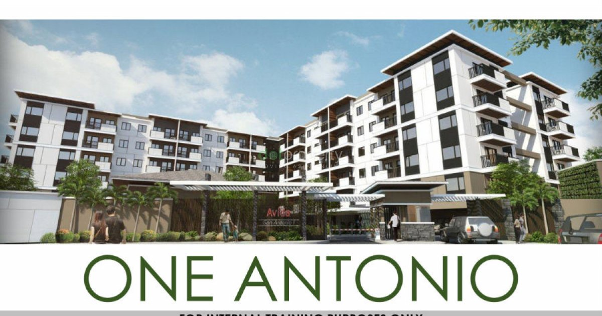 One Antonio: 2 BR with Balcony Type A and B = Pre-Selling