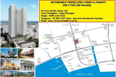 Condo for sale in Pasay, Metro Manila near LRT-1 Gil Puyat